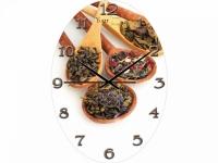 """Настенные стеклянные часы """"Чай"""" Your Time"""