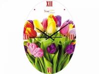 """Настенные стеклянные часы """"Тюльпан"""" Your Time"""