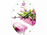 """Настенные стеклянные часы """"Тюльпаны"""" Your Time"""