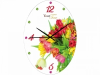 "Настенные стеклянные часы ""Тюльпанчик"" Your Time"