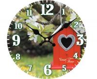 """Настенные стеклянные часы """"Сердце"""" Your Time"""