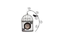 """Дизайнерские интерьерные часы """"Птица на ветке"""" Your Time"""