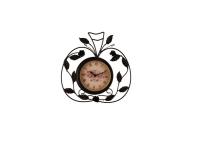 """Дизайнерские интерьерные часы """"Яблочный орнамент"""" Your Time"""