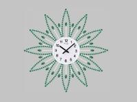 """Интерьерные настенные часы """"Зеленая Ромашка"""" Your Time"""