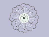 "Интерьерные настенные часы ""Белый Цветок"" Your Time"