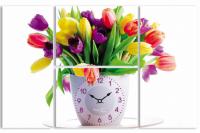 """Часы настенные """"Тюльпаны"""" Your Time"""