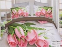 """Двуспальное постельное белье """" Розовые тюльпаны"""""""