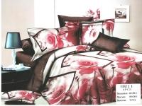 """Полуторное постельное белье, 3D  """"Роза и перо"""""""