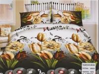"""Двухспальное постельное белье, 5D  """"Орхидея"""""""