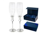 """Свадебный набор бокалов для шампанского """"Два сердца"""""""
