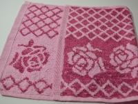 Полотенце кухонное розовое