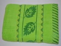 """Махровое лицевое полотенце """" Зеленое"""""""