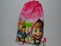 Розовый рюкзак для сменной обуви с девушками