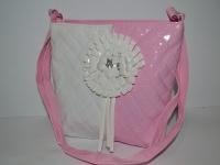 Розовая детская сумка с паетками