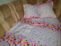 """Двухспальное постельное белье """"Вентель серо-розовый"""""""