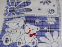 """Банное детское полотенце """" Мишка синий"""""""