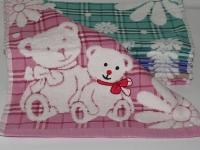 """Банное детское полотенце """" Мишка розовый"""""""